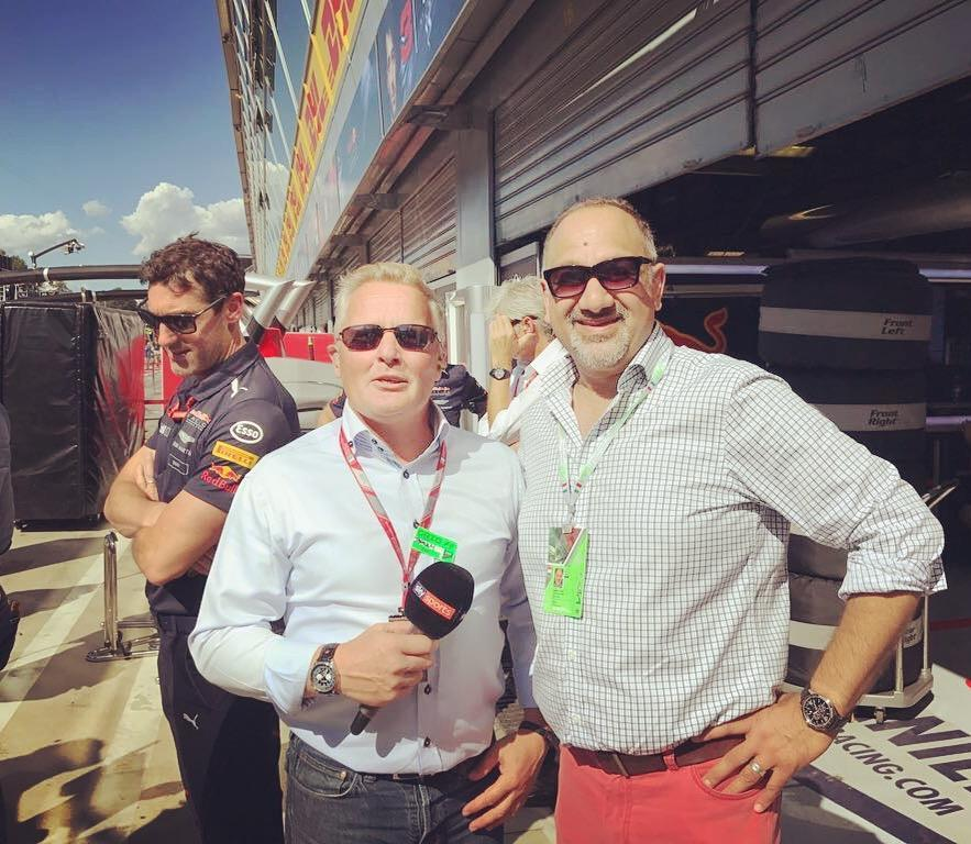 Johnny Herbert ex F1 and current SKYF1 TV presenter