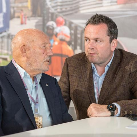 Sir Stirling Moss and Henry Hope-Frost
