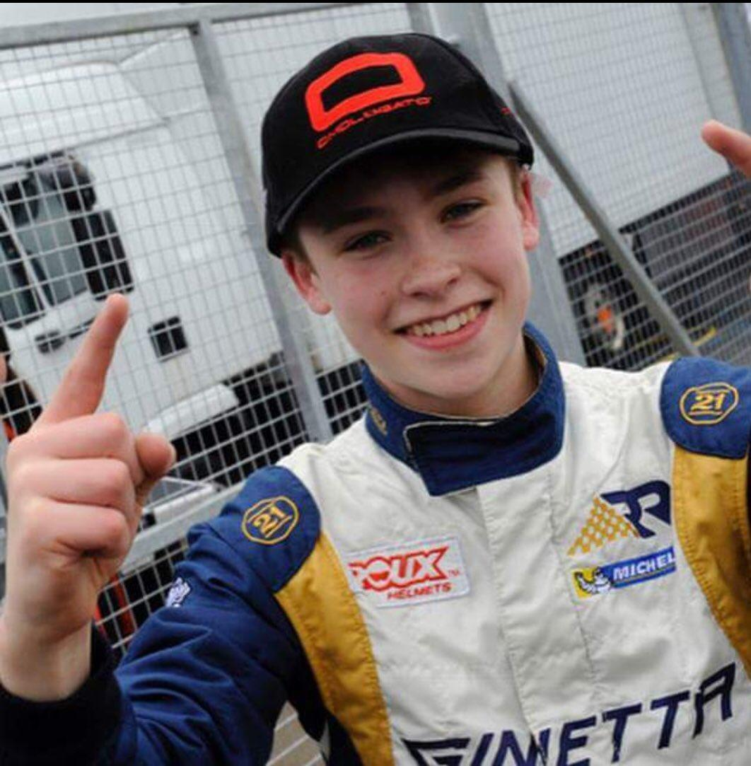 Luke Browning Ginetta driver and rising star