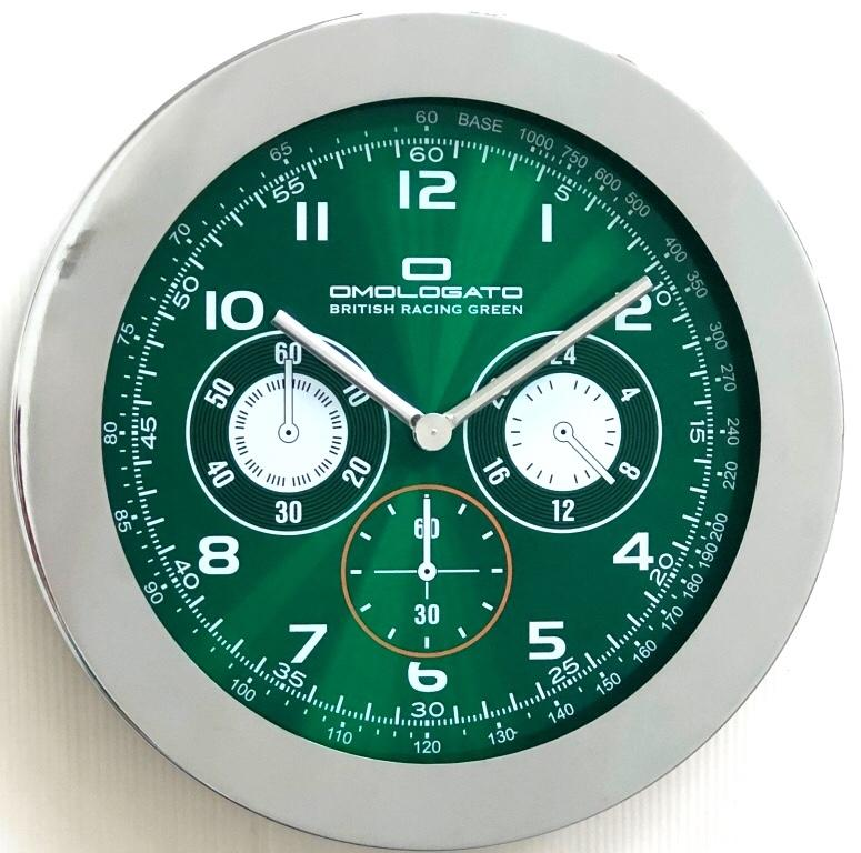 British racing green Wall Clock