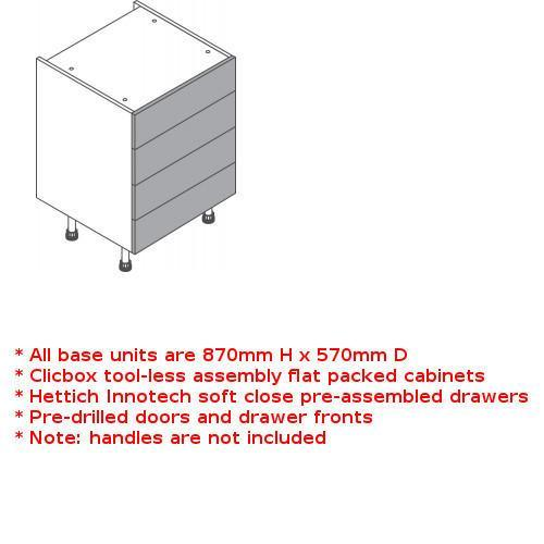 Clicbox 4 drawer unit
