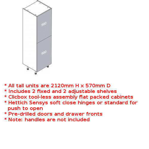 Clicbox full fridge freezer unit