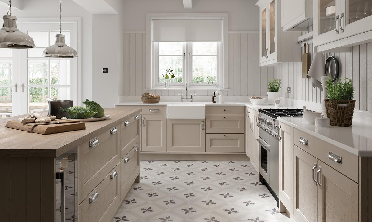 Stone and Porcelain Kitchen