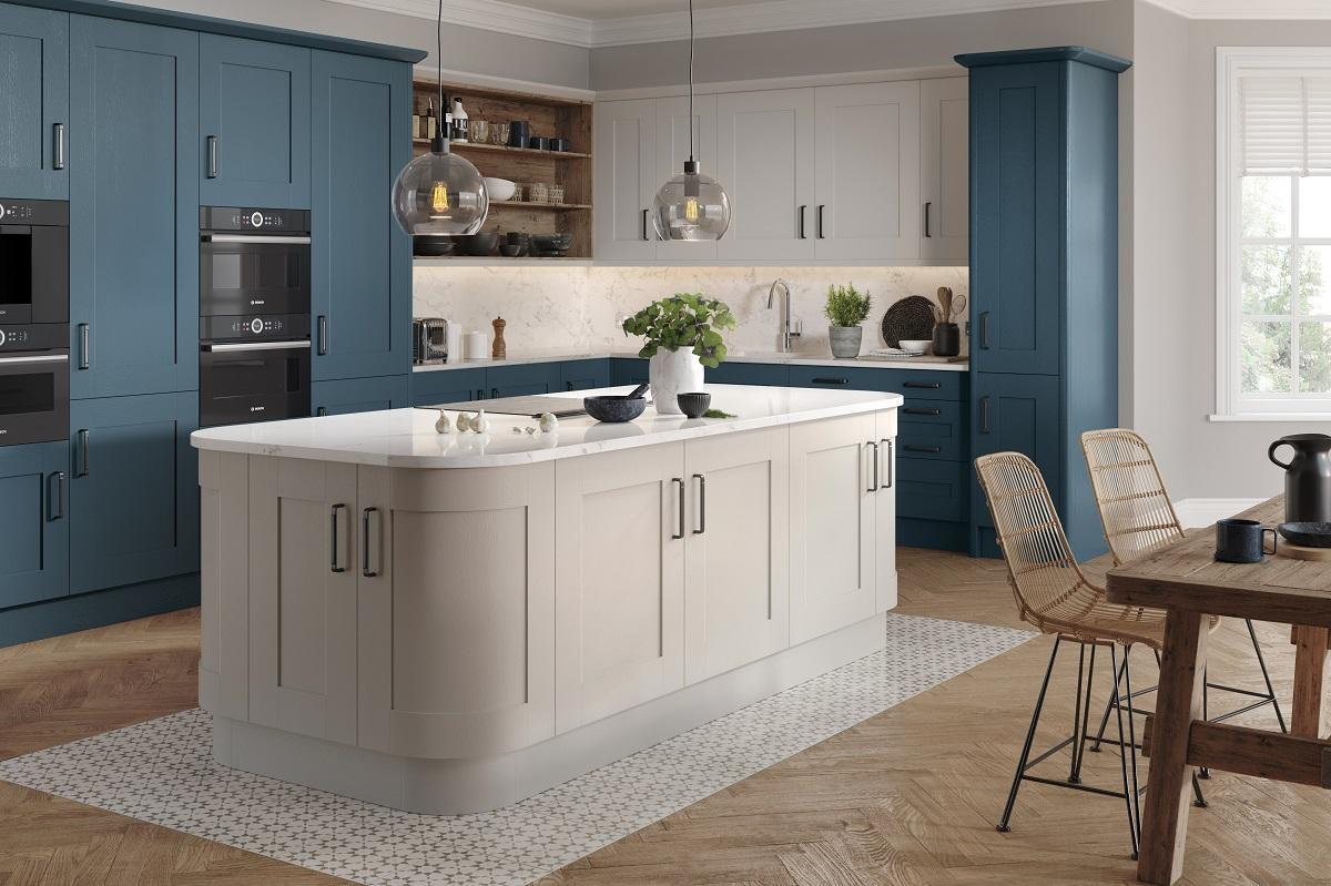 Wilton azure blue kitchen