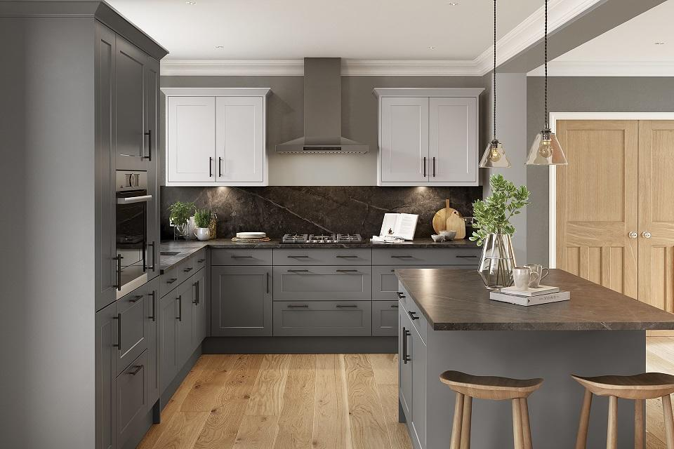 Harvard Grey Kitchen