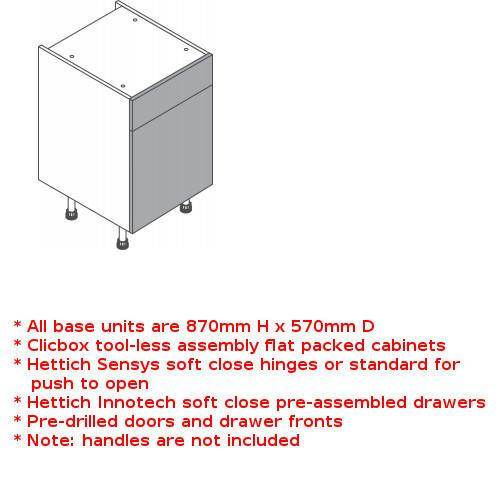 Clicbox drawerline unit single door