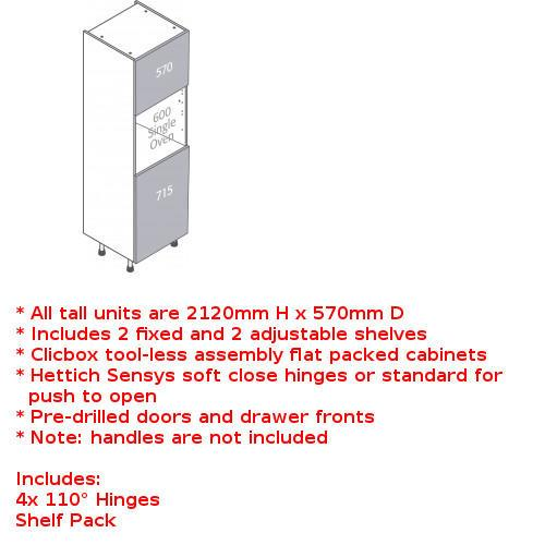 Clicbox single oven unit