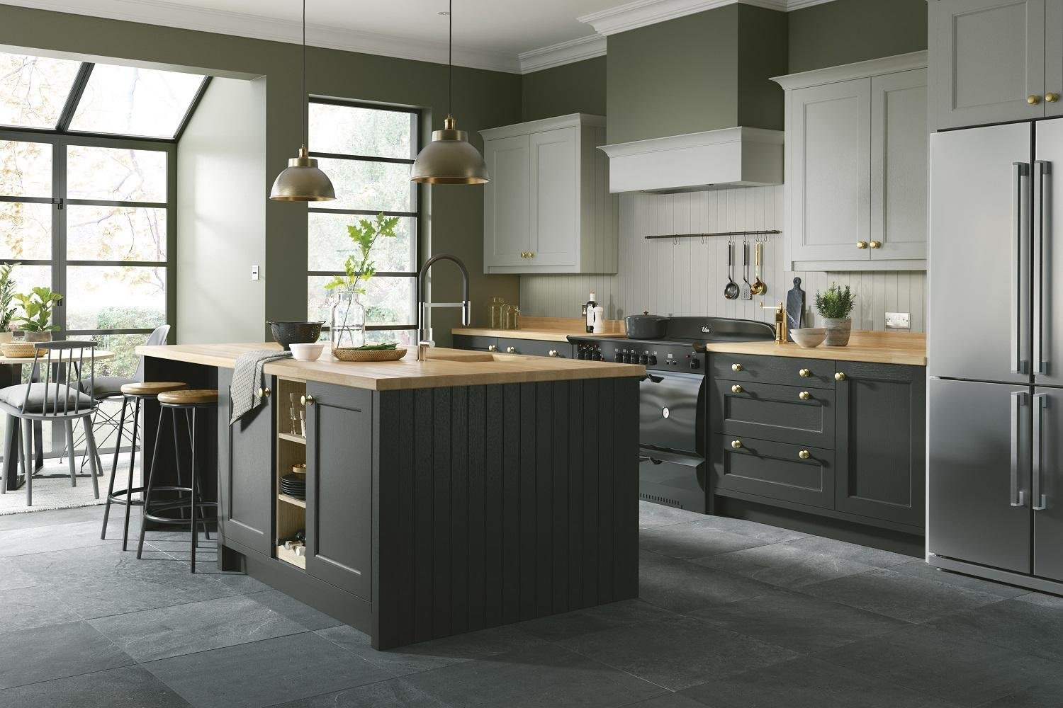 Earl Grey and Graphite Kitchen