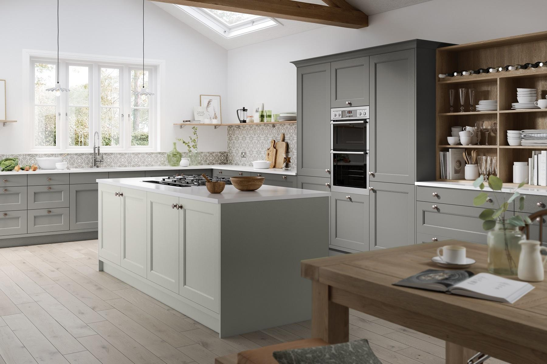 Dove and Dust Grey Kitchen
