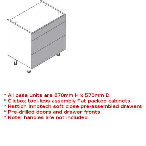 Clicbox 3 drawer unit