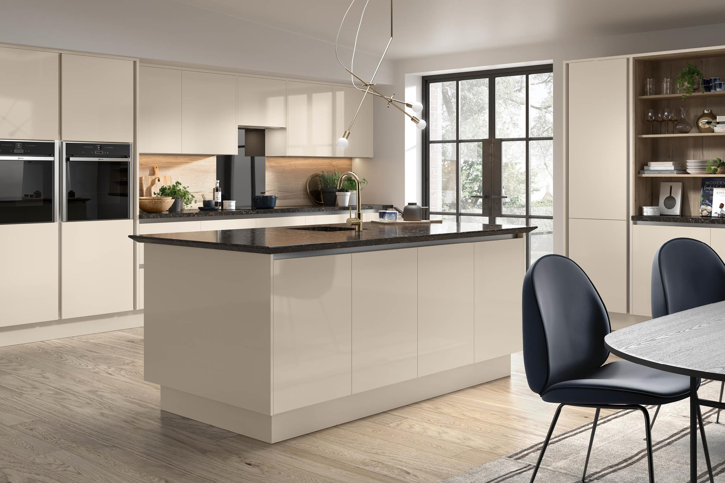 Firbeck supergloss cashmere Kitchen