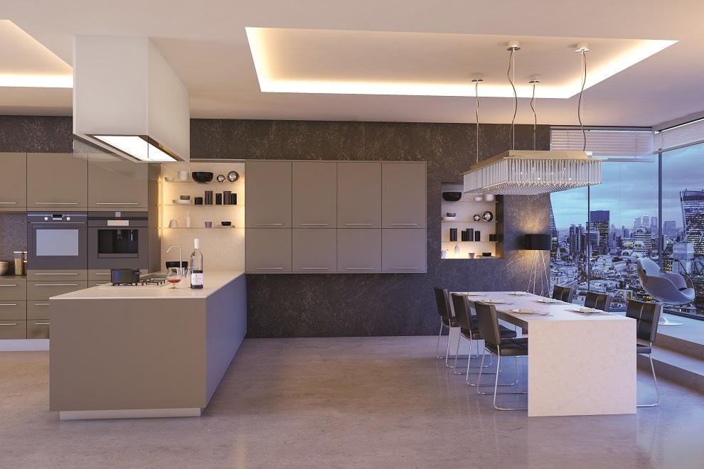 ultramatt metallic basalt kitchen