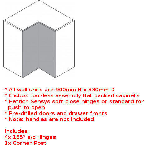 Clicbox tall wall corner unit