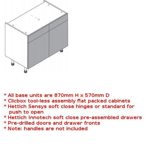 Clicbox drawerline unit double door