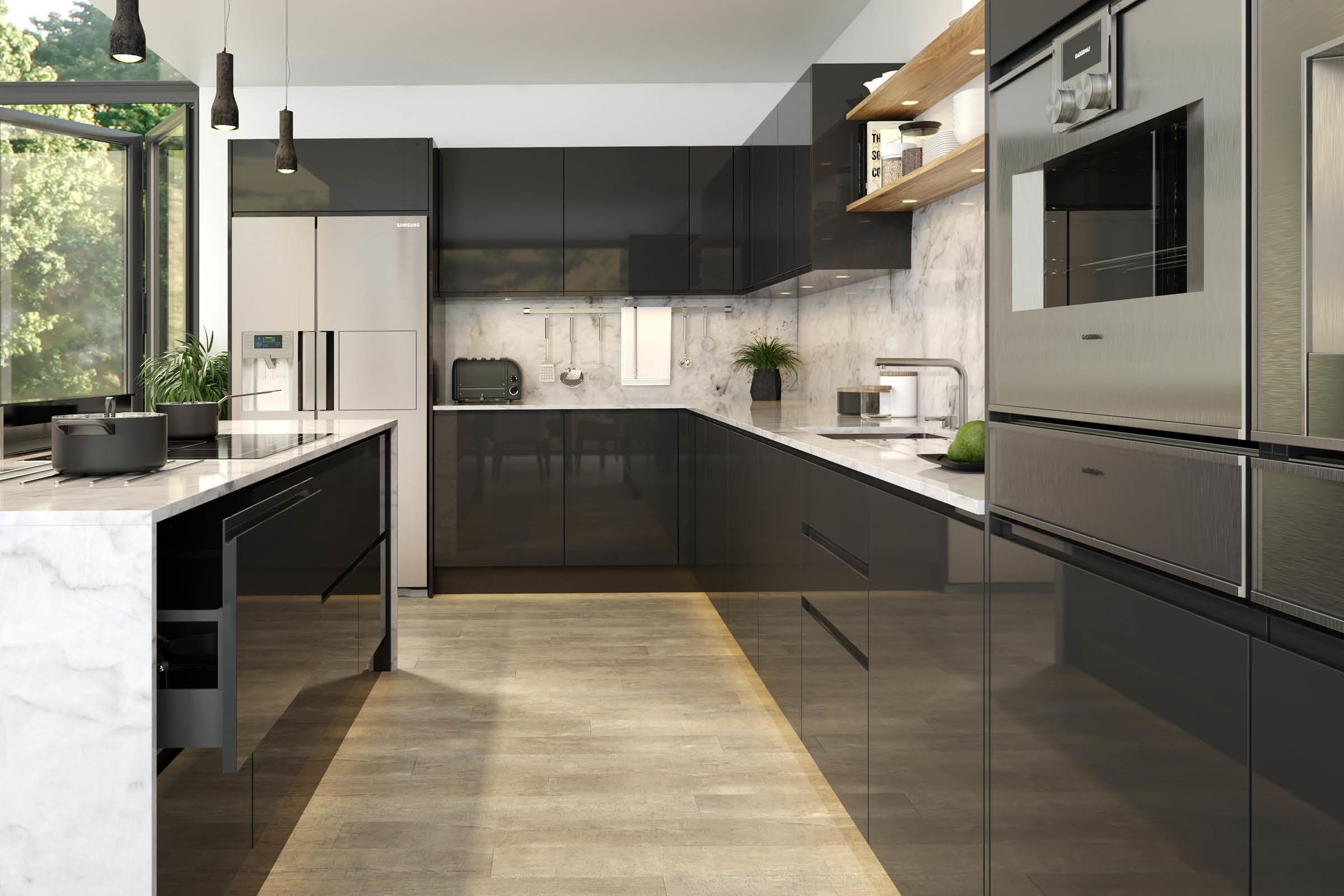 Jayline Gloss Graphite Kitchen