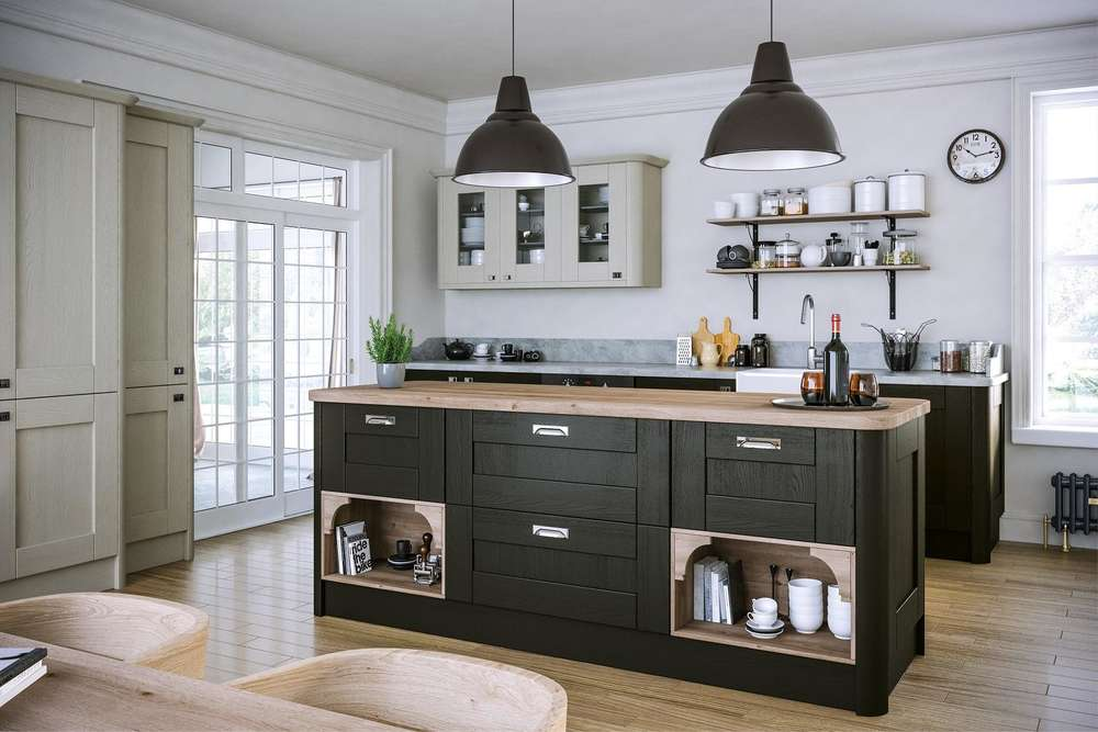 Oakgrain Graphite Kitchen