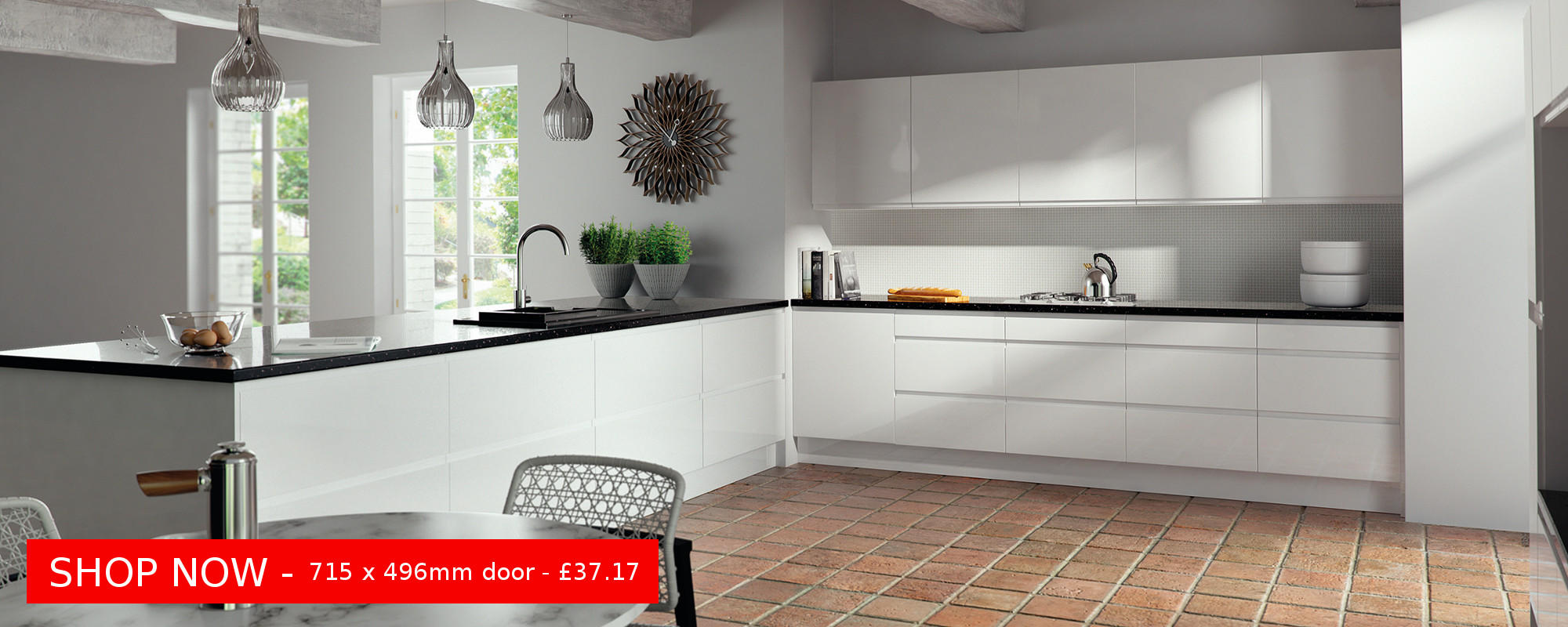 Lacarre Gloss White - Superb Italian sprayed J Pull - from £10.98