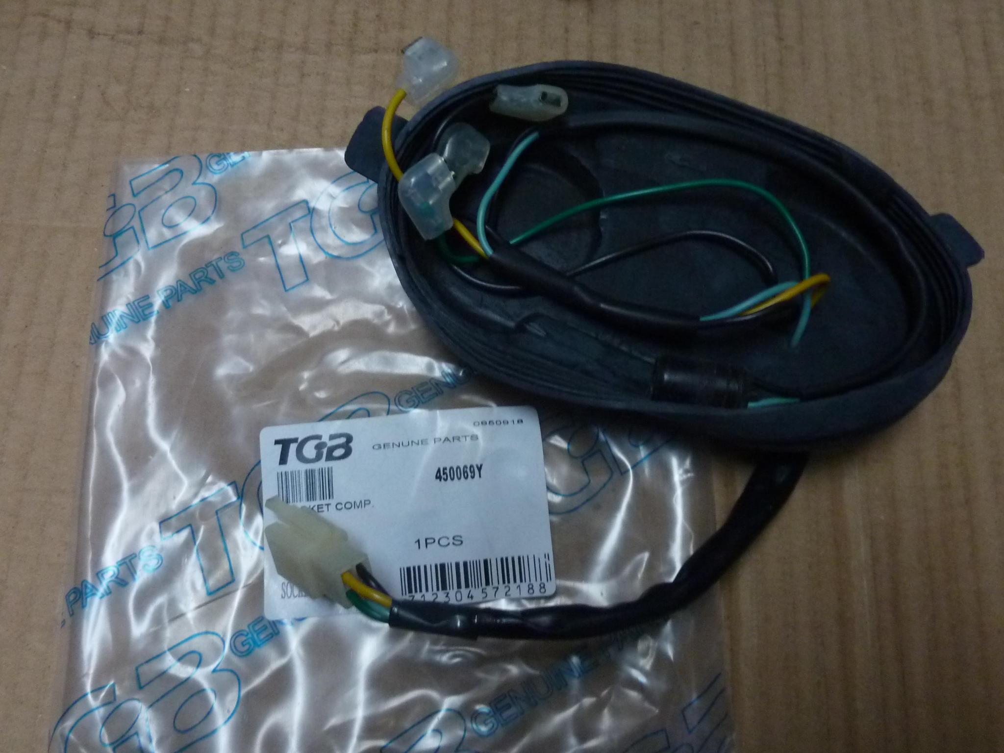 450069Y SOCKET WIRING LOOM HARNESS HEADLIGHT TGB R50X R125X ...