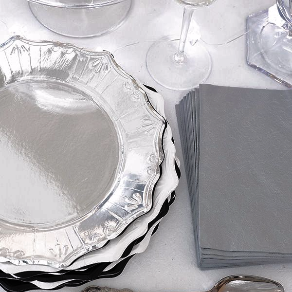 Party Porcelain Silver