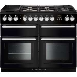 Dual Fuel Range Cooker in Black / Chrome