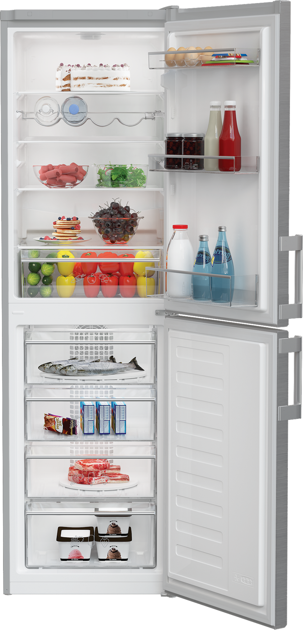 Blomberg Fridge Freezer in Stainless Steel