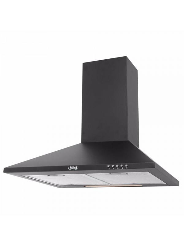Belling CHIM600RBLK 60cm Chimney Hood - Black
