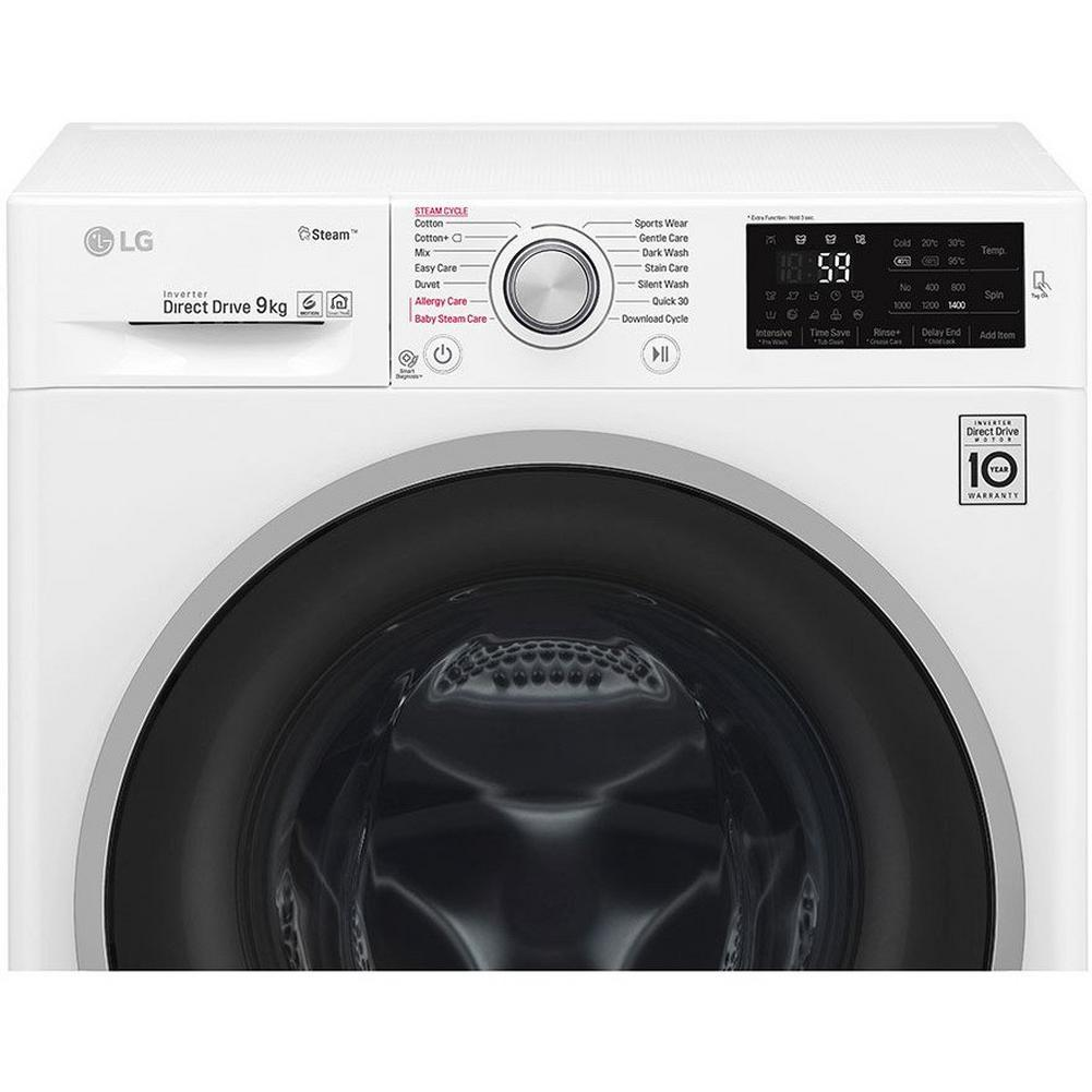 LG 9kg Steam Washing Machine with 1400 Spin