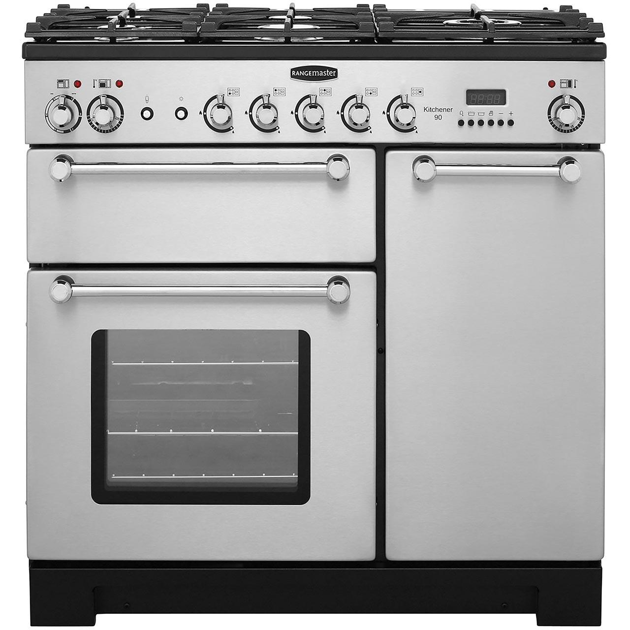 Dual Fuel Range Cooker in Stainless Steel / Chrome