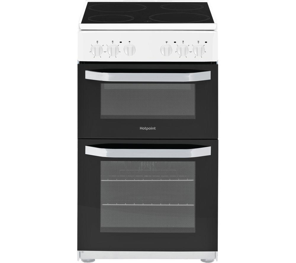 HOTPOINT HD5V92KCW 50 cm Electric Ceramic Cooker in White