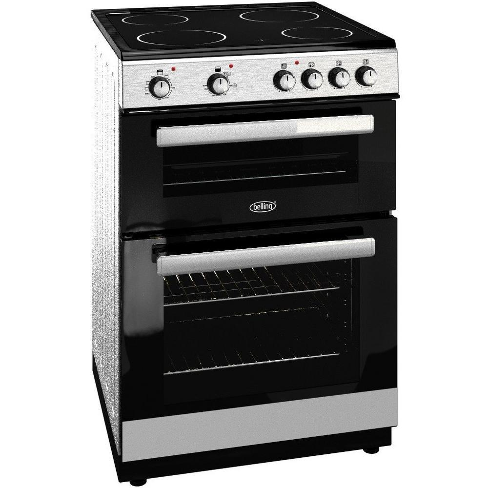 Belling Fse608dsil 60cm Double Oven With Ceramic Hob