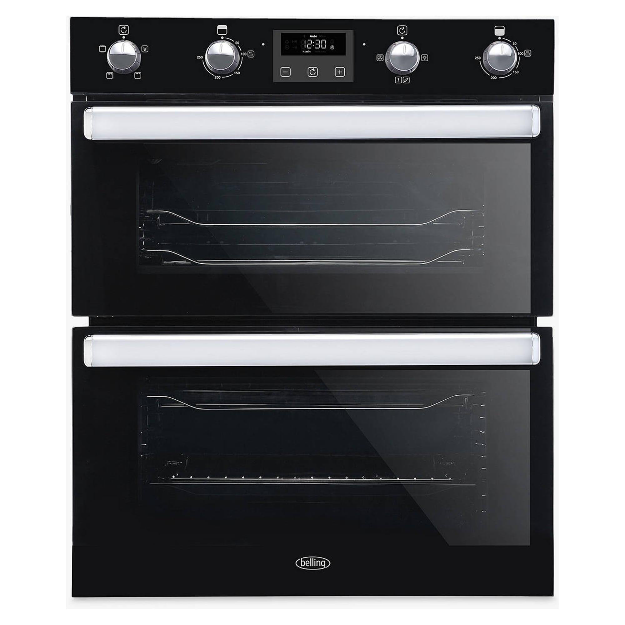 Belling BI702FPBLK 92L Built-Under Double Oven