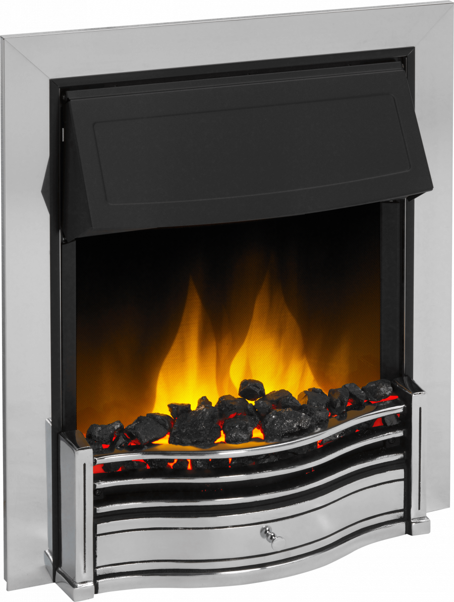Dimplex Danesbury Chrome Optiflame 2kw Electric Inset Fire