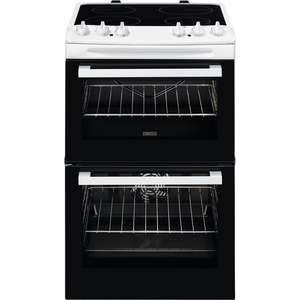 Zanussi Electric Cooker with Ceramic Hob in White