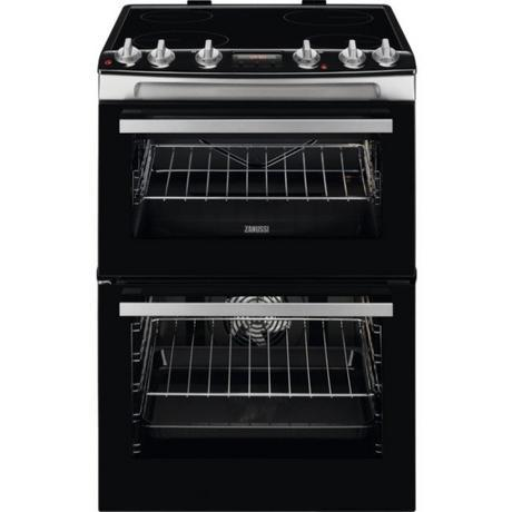 Zanussi Double Electric Oven with Ceramic Hob