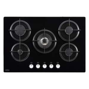 Belling GTG75CBLKNG Gas Hob with Glass Top