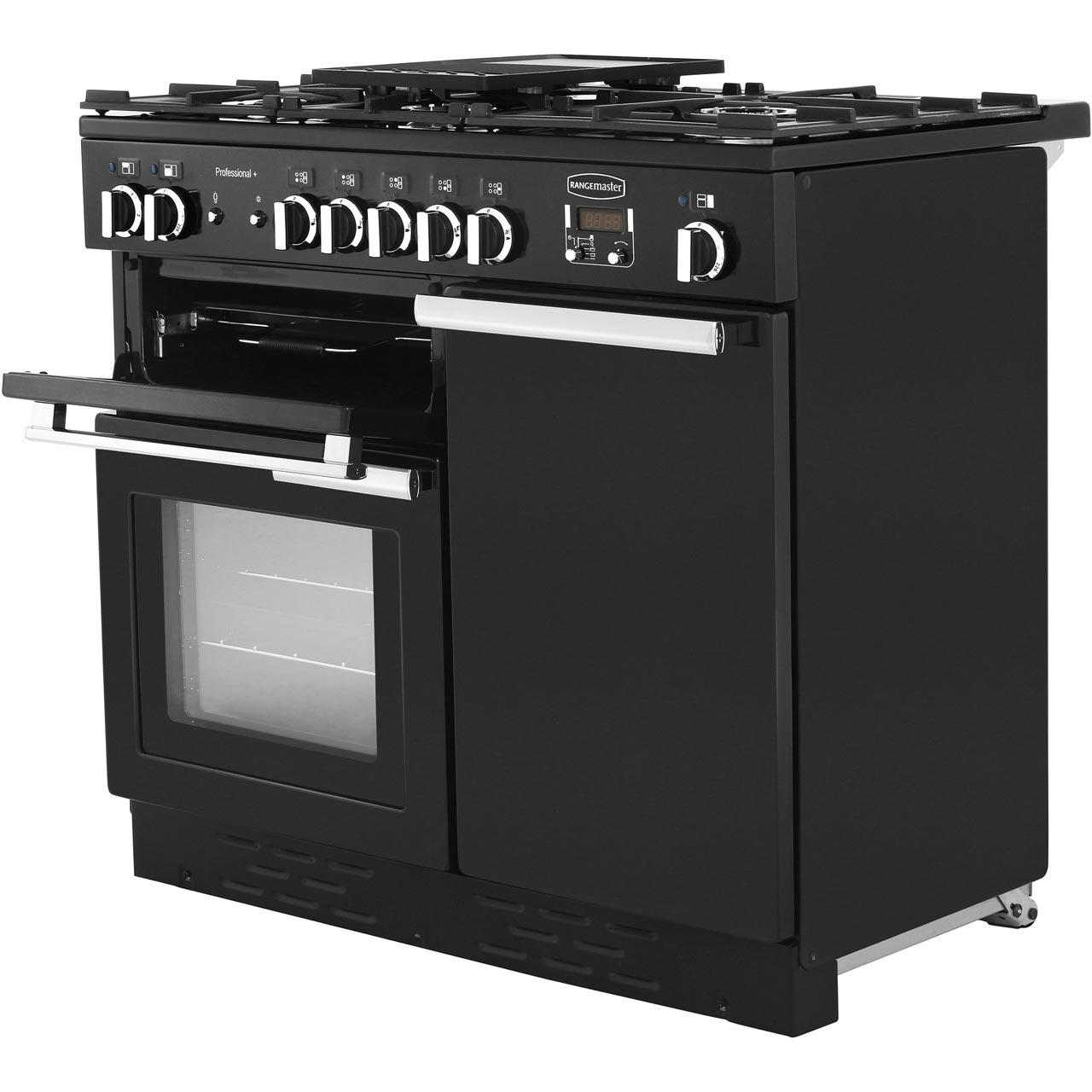 Rangemaster Dual Fuel Range Cooker in Black