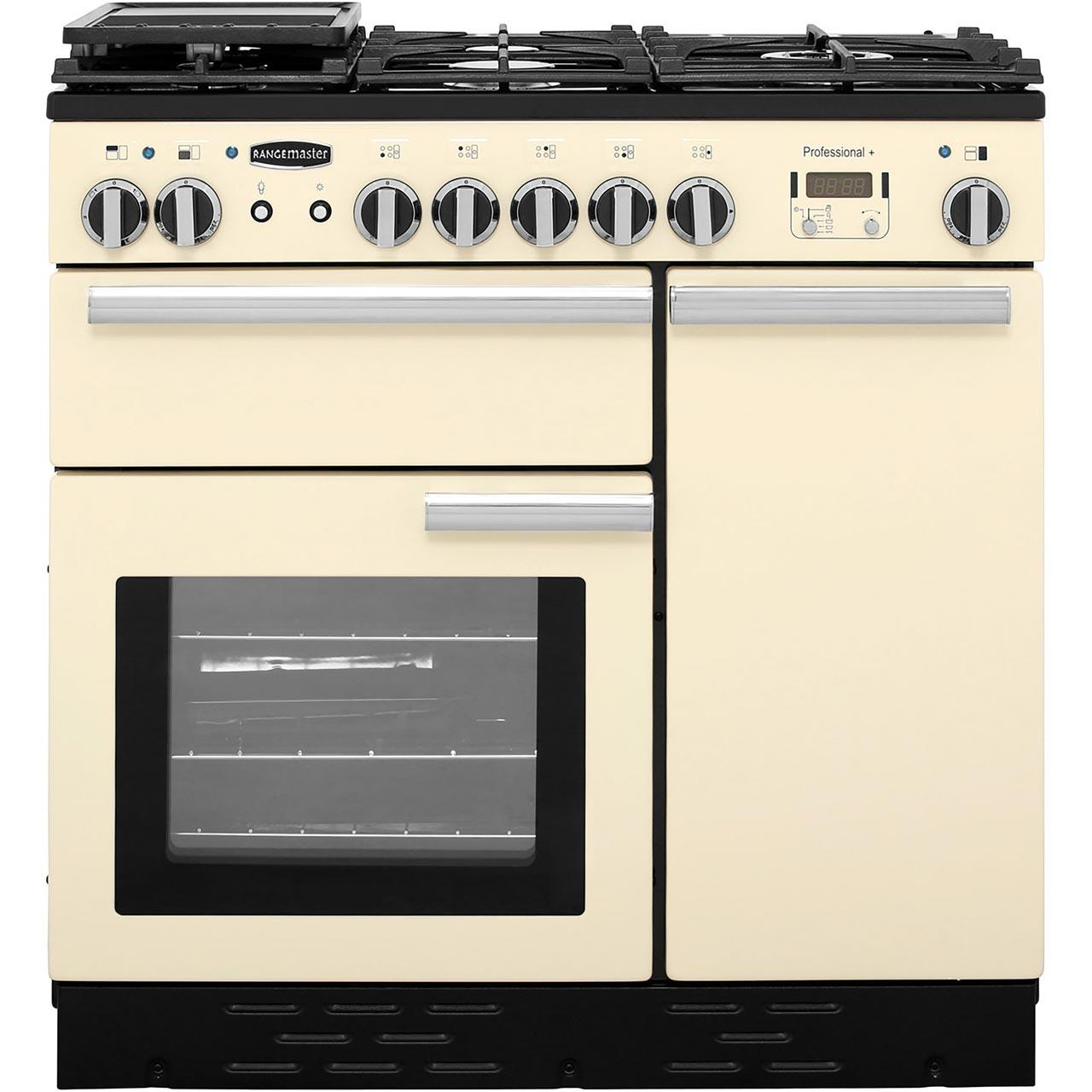 Dual Fuel Range Cooker in Cream / Chrome