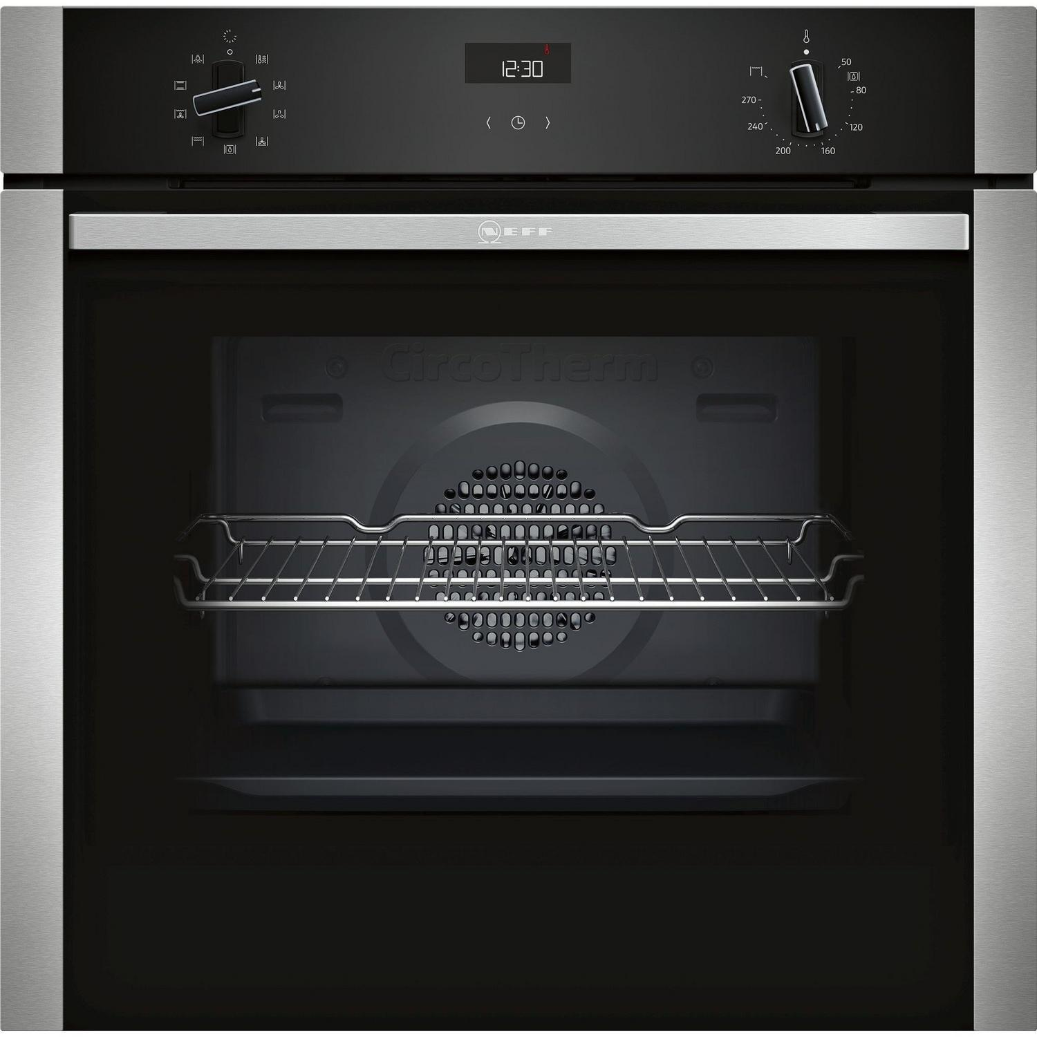 NEFF Built-In Electric Single Oven in Black/Steel