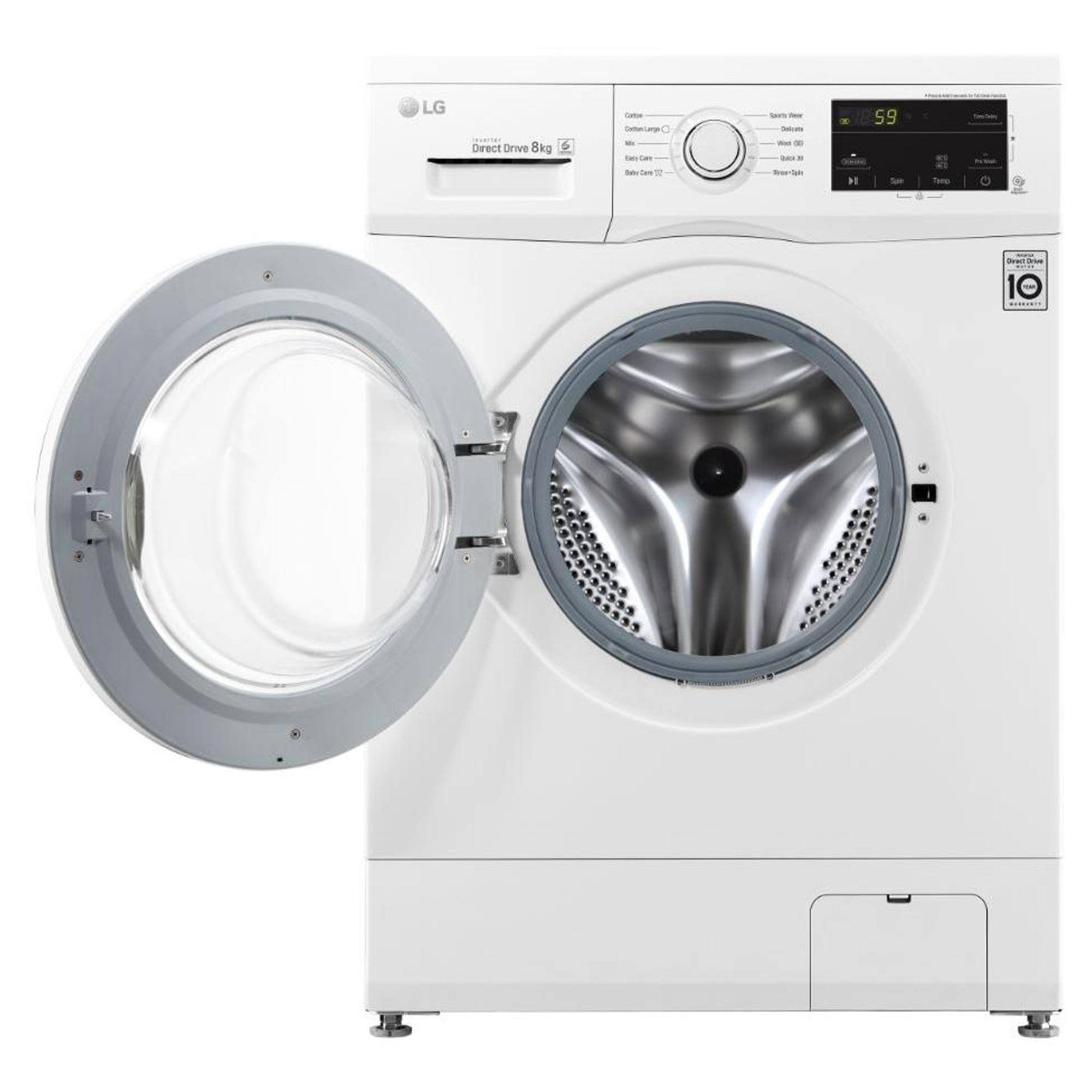 LG 8kg Washing Machine in White