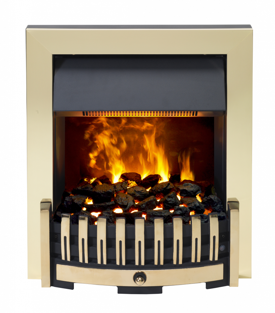 Dimplex Danville Brass 2KW Inset Electric Fire
