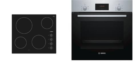 Bosch Built-in Oven & Ceramic Hob Pack