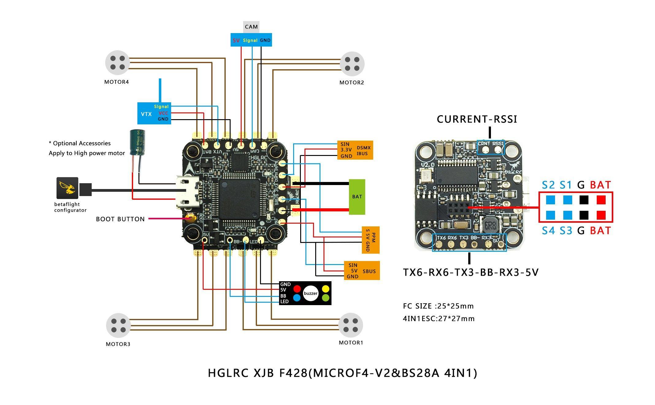 HGLRC F4 Micro FC V2 Flight Controller
