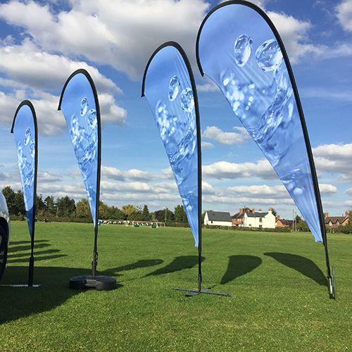 Cheap Portable Exhibition Stands : Stretch graphics cheap custom printed teardrop flags free