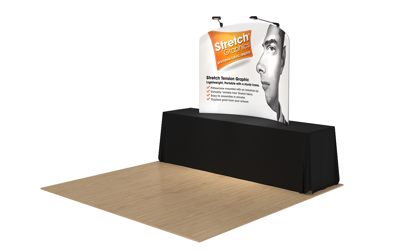 stretch table top exhibition stands