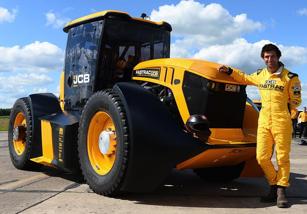 JCB and Guy Martin break British tractor speed record on BKT tyres