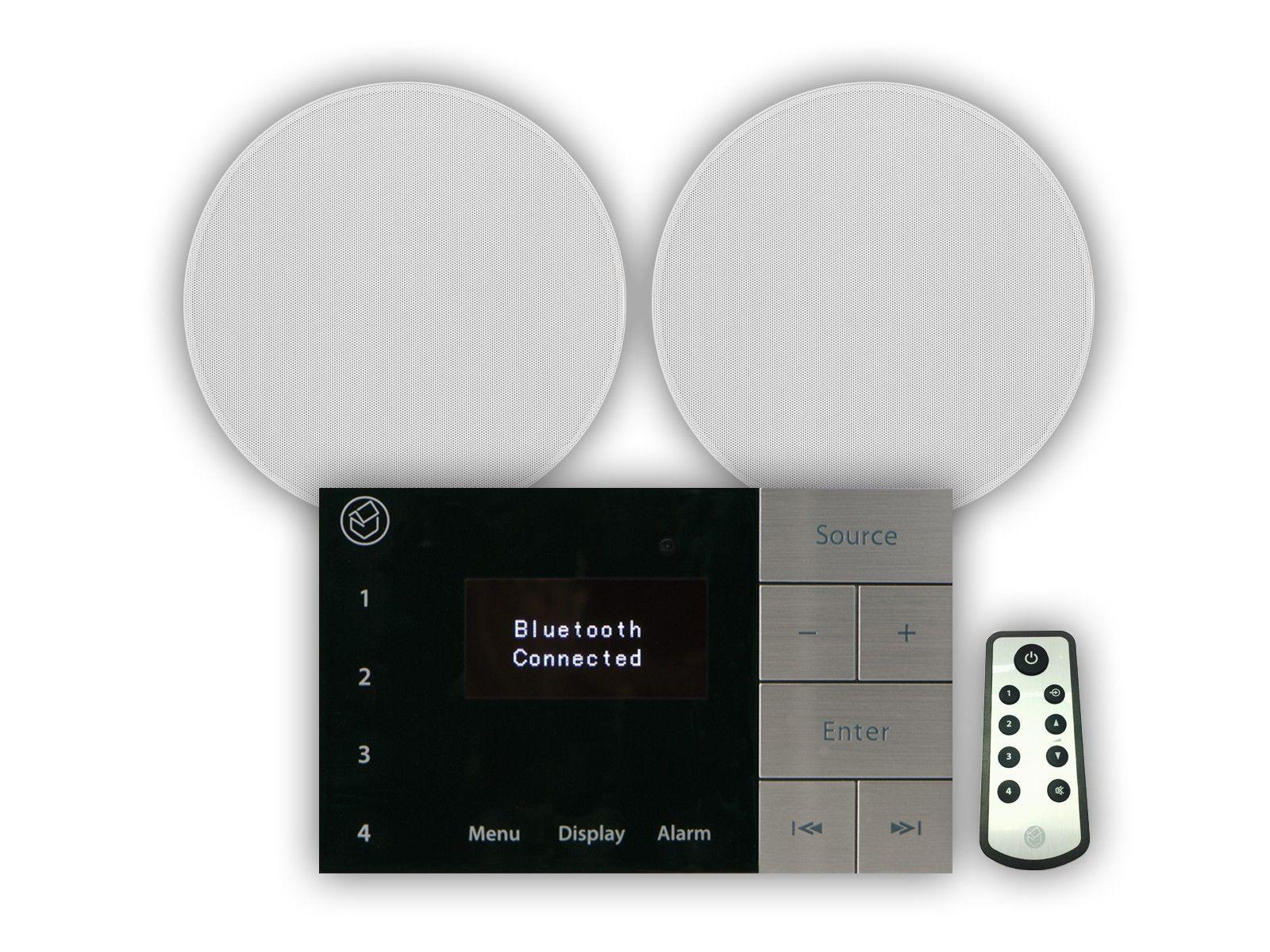 "Systemline E100 & 6.5"" Qi65C Ceiling Speakers"