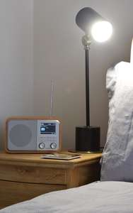 AV:Link Rechargeable FM & DAB+ Radio with Bluetooth in lounge room