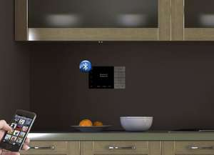 Systemline E100 installed in a kitchen with  phone