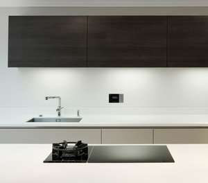 systemline e100 in white wall kitchen