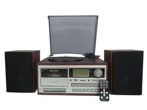 Roadstar HIF-8892EBT HiFi System with open turntable